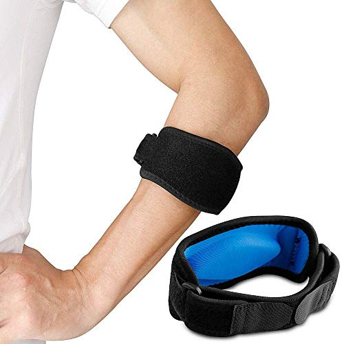 JADE KIT Verstellbare Ellbogen Bandage, Tennis & Golferarm Elbow Support mit Kompressionspolster, Linderung der Schmerzen bei Tendinitis für Männer und Frauen 【2 Stück】