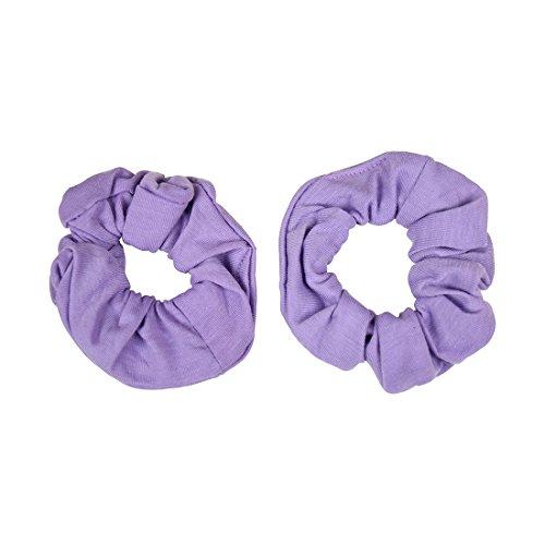 Set of 2 Solid Scrunchies - Lavender