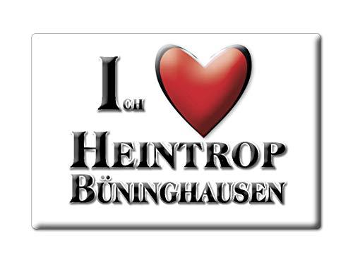 Enjoymagnets HEINTROP BÜNINGHAUSEN (NW) Souvenir IMANES DE Nevera Alemania Nordrhein Westfalen IMAN Fridge Magnet Corazon I Love