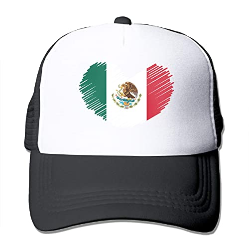 Baseball Hat Mexico Flag In Heart Shape Mesh Cap Snapback Cap, Personalizado, Hip Hop, Verano,...
