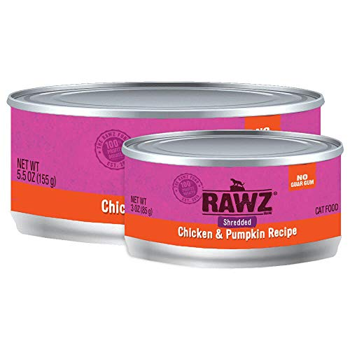 Rawz Shredded Meat Canned Cat Food (Chicken & Pumpkin) (Cat Food Without Carrageenan And Guar Gum)