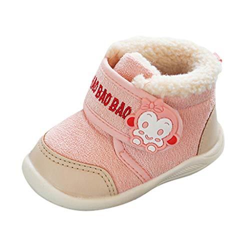 Winterschuhe VENMO Kinder Baby Warme Schneeschuhe Winterstiefel Stiefel Bootie Schuhe Cartoon-AFFE Freizeitstiefel Baumwollschuhe