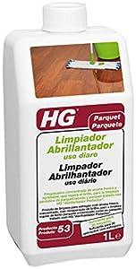 HG Limpiador Abrillantador uso diario 1L - Un fregasuelos concentrado, de aroma fresco y agradable – Para uso frecuente – Restaurador del brillo