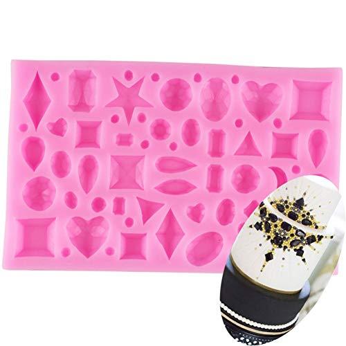 TAOYUE Mini Gem Diamond Shaped Fondant Cake Chocolate Tools Candy Silicone Mold Mould