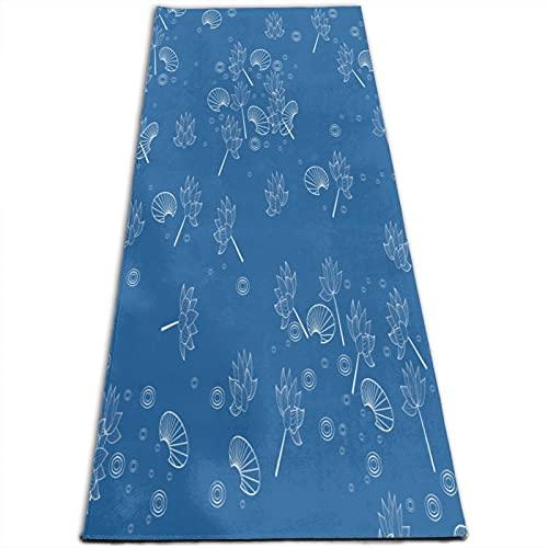 Esterilla de yoga antideslizante ecológica Fitness Mat Art Lotus Leaf Yogamat para el hogar Pilates gimnasia mujeres hombres