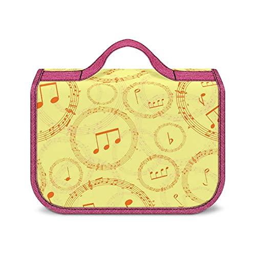 Sac De Voyage Symbole Musical Jaune Sacs De Maquillage Cosmétiques Imperméables pour Le Voyage