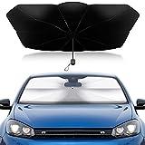 Parasol Coche Delantero, Parasol para Parabrisas de Coche, Parasol Reflectante, Parabrisas Delantero para Coche, protección Solar UV, 120×65cm