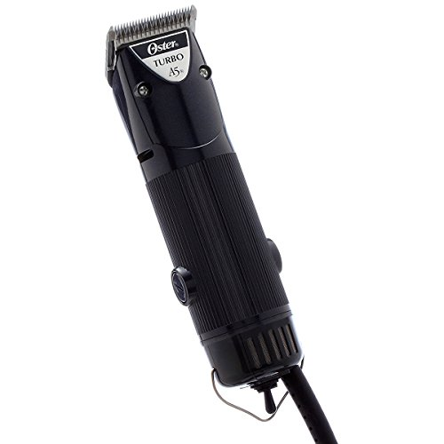 Oster Turbo A5 Single Speed Animal Grooming Clipper with Detachable Cryogen-X #10 Blade
