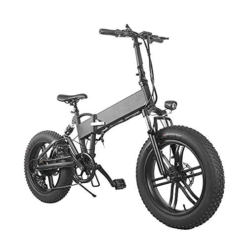 Bicicleta eléctrica S de 7 velocidades, para adultos, batería de 36 V/10 Ah, motor sin escobillas de 500 W, kilometraje de 35 km/60 km en modo PA, neumáticos de 20 pulgadas, velocidad máxima de 30 km