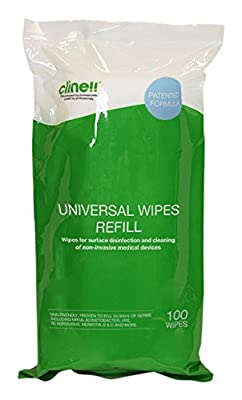 Clinell Universal Wipes - Tub of 100 Refill from Gama Healthcare