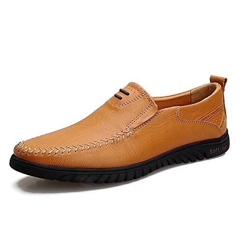 Zapatos de cuero, zapatos casuales, trabajo, al ai Mocasines de conducción for hombres Mocasines de barco Gommino Slip en bandas elásticas de cuero sintético Super suave SOBRE LIGNO PRODUCTAS SOLES SO