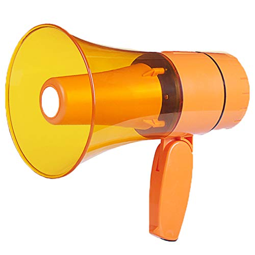 ZYHA Altoparlante megafono megafono,Potente megafono Portatile per Parlare,con Manico Pieghevole della Sirena Volume Regolabile,megafono USB Ricaricabile (Verde)