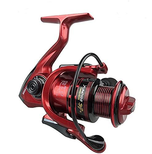 LINMAN Carretes de Pesca de Carpa Pesca de la Carpa Spinner para Pescar Shimano 13 + 1 Rodamientos de Bolas 1000-7000 Pinning Reel Feeder Reel de Metal (Bearing Quantity : 14, Color : Red)