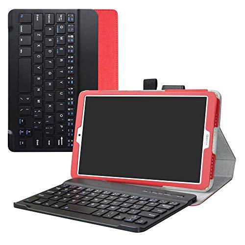 Liushan Toetsenbord Hoes voor Huawei MediaPad M6 2019, afneembaar draadloos toetsenbord PU lederen standaard Multi Angles Case voor 8.4