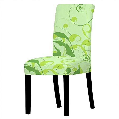 SKYROPNG Universal Dining Chair Schonbezüge - Stretch Protective Seat Green Pattern Abnehmbare Armlose Sitzbezüge Für Restaurant Bankett Hotel Home Decoration, 10St