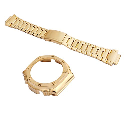 FAAGFC Correa de acero inoxidable 316, accesorios modificados para GA2100 2110 y correa de reloj deportivo al aire libre (color de la correa: caja de la correa 1, ancho de la correa: 2100)