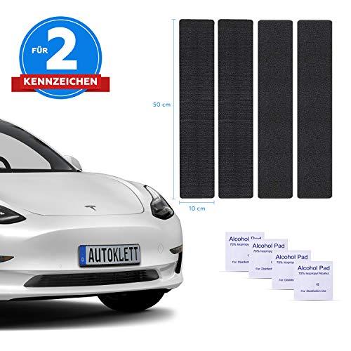 AUTOLIGHT 24 I 2x Klett Rahmenlos Kennzeichenhalter Nummernschildhalter Kennzeichenhalterung für Kennzeichen 520mm-380mm alle Größen