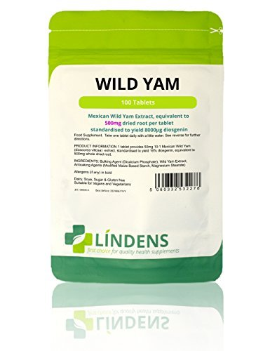 Lindens Wild Yam 500mg x 100 Tablets