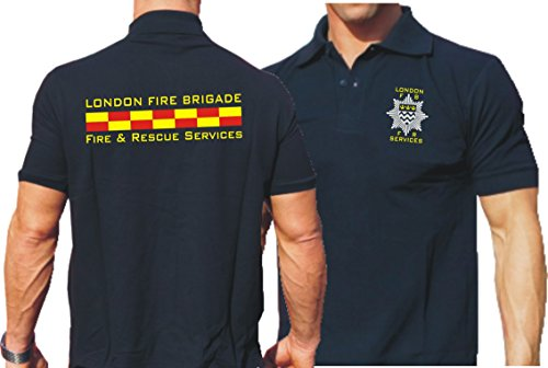 feuer1 Polo Bleu Marine, London Fire Brigade – Fire & Rescue Services S Bleu Marine