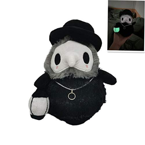 Nargut Plague Doctor Plüschpuppen, Halloween Cartoon Doctor Plüschpuppe Crystal Plush Luminous Doll Holiday Party Prom Requisiten