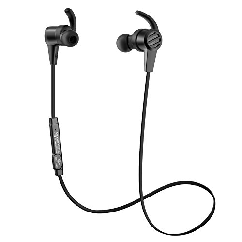 Bluetooth Earphones, SoundPEATS Wireless Magnetic Sport Earphones(Bluethooth 4.1, Hight Fidelity Sound, APTX, 8 Hour Playtime, Secure Fit for Running)-Black