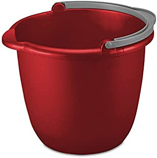 JOEY'Z 10QT (9.5L) Heavy Duty Sturdy Spout Pail Bucket with Durable Grip Handle for Cleaning, Mopping, Projects, Storage, ...