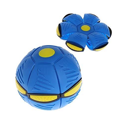 Nlne Frisbee Verformung UFO Ball Mini Drohne UFO Für Eltern-Kind Strand Spielzeug,Blau