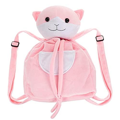 Katzen Rucksack von Chiaki Nanami aus Plüsch   Pink Katzenrucksack für Danganronpa Fans