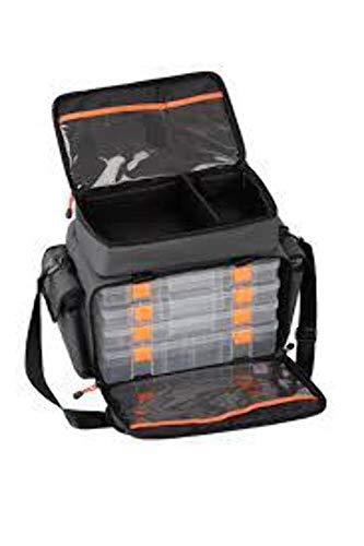 Savage Gear Lure Specialist Bag L Tasche 35x50x25cm inkl. 6 Angelboxen, Anglertasche für Kunstköder & Angelköder, Ködertasche, Angelbox, Köderbox, Angeltasche