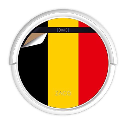 ZACO V5sPro Robot Aspirador y fregasuelos, aspirar y Fregar hasta 180m2, para Suelos Duros, Madera, parquet y alfombras, sin Bolsa, Mando a Distancia, 300ml, para pelos de Mascotas, Bandera Belga