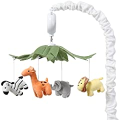 Entertain your little one with dreams of jungle adventures with The Peanut Shell Safari Animals Musical Mobile. Sweet giraffe, playful zebra, adorable elephant, and a mighty lion in bright tropical shades playfully hang from a central canopy of giant...