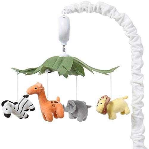 The Peanutshell Safari Animals Musical Crib Mobile for Baby Boys & Girls | Digital Music Box with 12 lullabies…