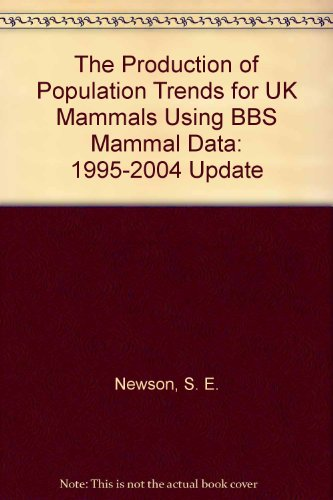 The Production of Population Trends for UK Mammals Using BBS Mammal Data: 1995-2004 Update