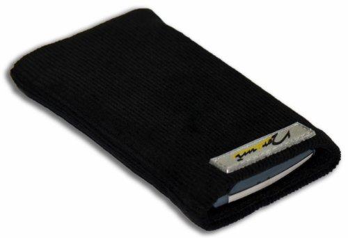Norrun Handytasche / Handyhülle # Modell Konne # ersetzt die Handy-Tasche von Hersteller / Modell Samsung SGH-F480i # maßgeschneidert # mit einseitig eingenähtem Strahlenschutz gegen Elektro-Smog # Mikrofasereinlage # Made in Germany