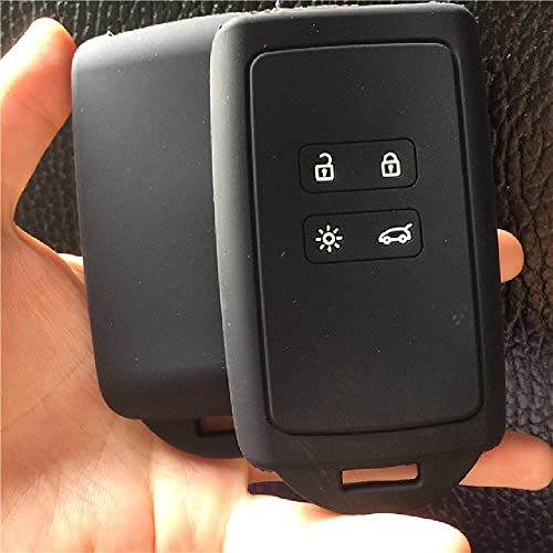 Conveniente para Renault KOLEOS Kadjar 2016 2017 silicona caucho coche clave cubierta para Samsung QM5 4 botón clave caso