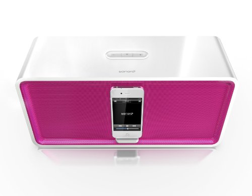 sonoro Stereo iPod/iPhone Docking Station cuboDock weiß/pink