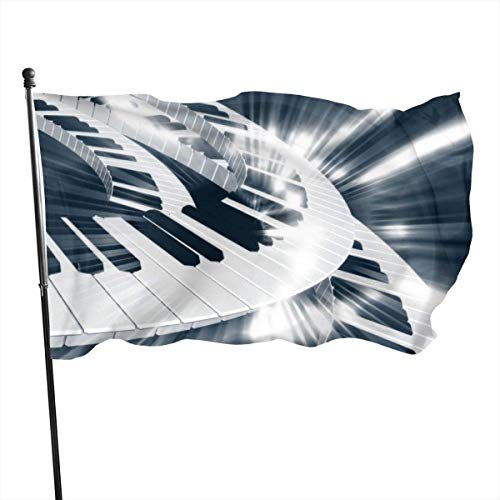 Emonye Garden Flag Patry Flag Outdoor Flag, Garden Flag Piano Keyboard Outdoor Yard Flag Wall Lawn Banner Home Flag Decoration 3' X 5'