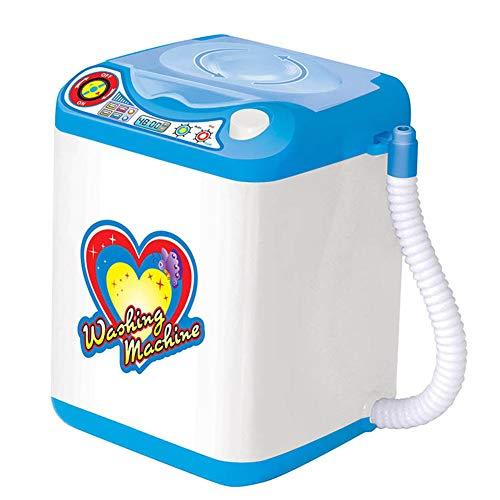 Dispositif de nettoyage de brosse de maquillage, machine à laver de nettoyage automatique pour brosses, éponge et feuilletée en poudre, mini jouet (1pcs, blue)