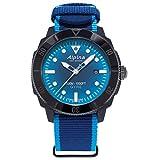 Alpina Men's Recycled Plastic Swiss Automatic Sport Watch with Nylon Strap, Blue, 22 (Model: AL-525LNSB4VG6)