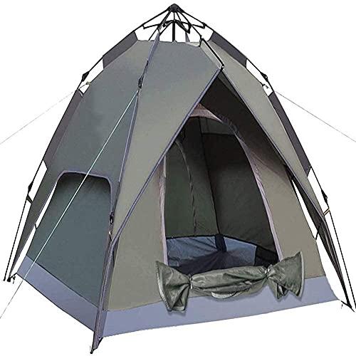 MZHEHAOAN Las tiendas de campaña dobles se abren rápidamente y son resistentes al agua para 3/4 personas pueden montar tiendas de campaña de inmediato, ideales para camping y montañismo.