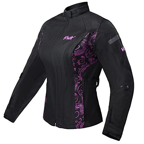 HWK Women's Motorcycle Jacket For Women Rain Waterproof Moto Riding Ladies Motorbike Jackets CE...