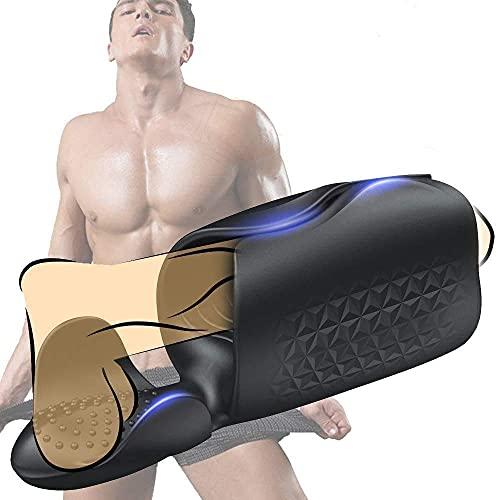 BSHK Massaggiatore Vḯbraťộrề Uomo Pềnề Ánello Maschio Potente Stimolḁorề di Glḁndề Elettrico per Ritardato