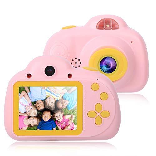 DAUERHAFT Spielzeugkamera Kid Toy Camera Compact Plug & Play zum Fotografieren(Cute pink)