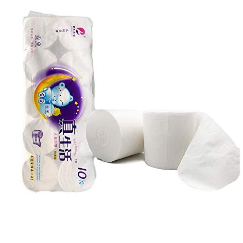 Enviro Gerecycleerde Tissue - Home Veiligheid Wood Pulp Paper 10 Roll 4 Ply Coreless Speciaal papier voor Huis Badkamer,B,10 Rolls