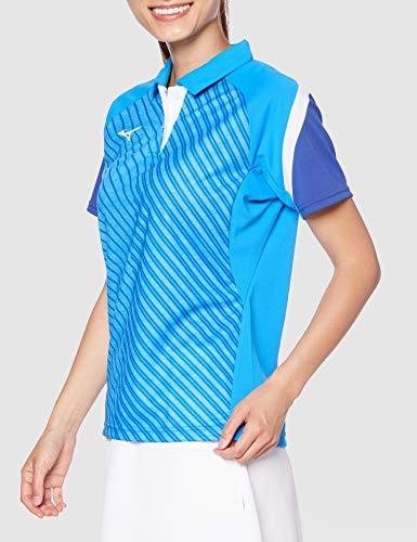 『[Mizuno] テニスウェア ウィメンズゲームシャツ 半袖 62JA0212 ディーバブルー 日本 M (日本サイズM相当)』の3枚目の画像