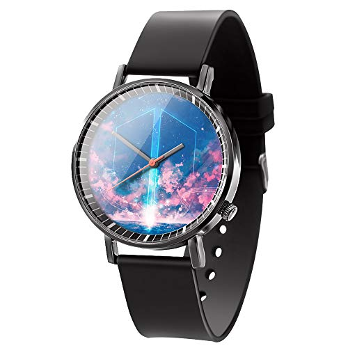 Hosston Kpop Watch, Bangtan Boys Men Casual Watches Creative Fashion Wristwatch Unisex Sports Wristwatch Clock Best Gift for Army(Style 02)