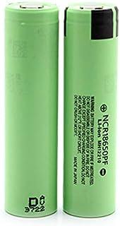 بطارية ليثيوم 18650 من نوع NCR18650B بجهد 3.7 فولت و3400 مللي امبير في الساعة قابلة لاعادة الشحن من باناسونيك من قطعتين - ...