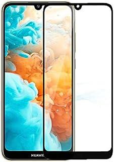 شاشة حماية زجاجية كاملة لهاتف هواوي واي 5 2019 (Y5 2019) - إطار اسود