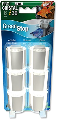 JBL Green Stop Set mit 6Wasserfilter-Kartuschen für ProCristal i30, für Aquarien