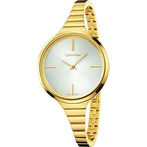 Calvin Klein Reloj Analogico para Mujer de Cuarzo con Correa en Bañada en Oro K4U23526